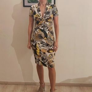 Flower Printed Jersey Midi Dress (Germany)